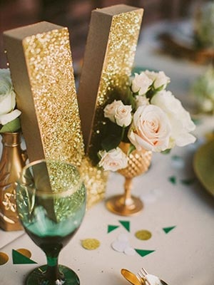 This over-sized gold initial is perfect for engagement parties, bridal showers, and more!