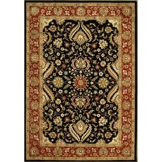 For Alliyah Rugs Black New Zealand Wool Rug 10 X12