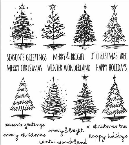 "TIM HOLTZ: Scribbly Christmas ( 7"" x 8 1/2"" Unmounted Rubber Stamp Set) This…"