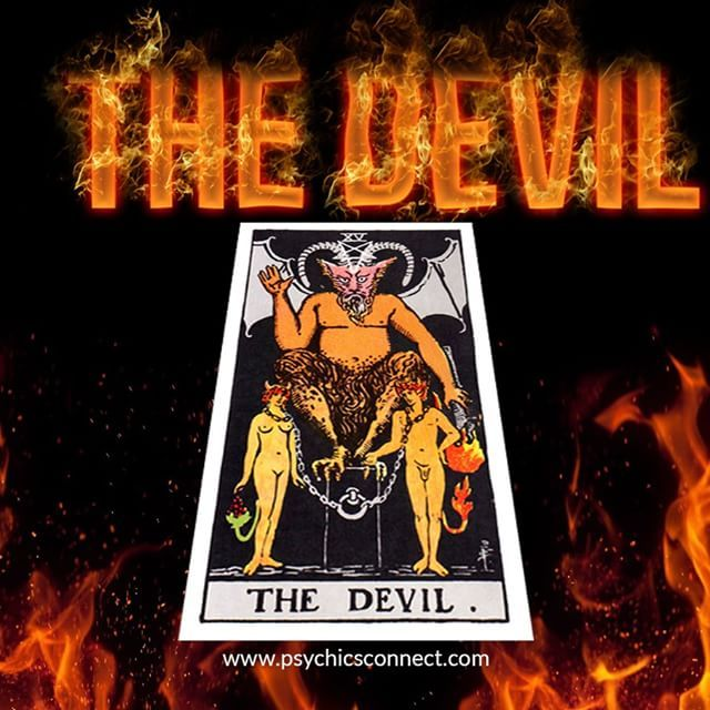 The Devil - Subordination - Ravage - Bondage - Malevolence - Subservience  This card often indicates a period of oppression, a heaviness hanging over you, a feeling of being unable to break free from current environment or relationship. As indicated in the card, it shows two people going in two very different directions, the break should have occurred a long time ago, note the noose around their necks are loose enough to slip off. Sometimes we come to view our unhappy situation as normal…