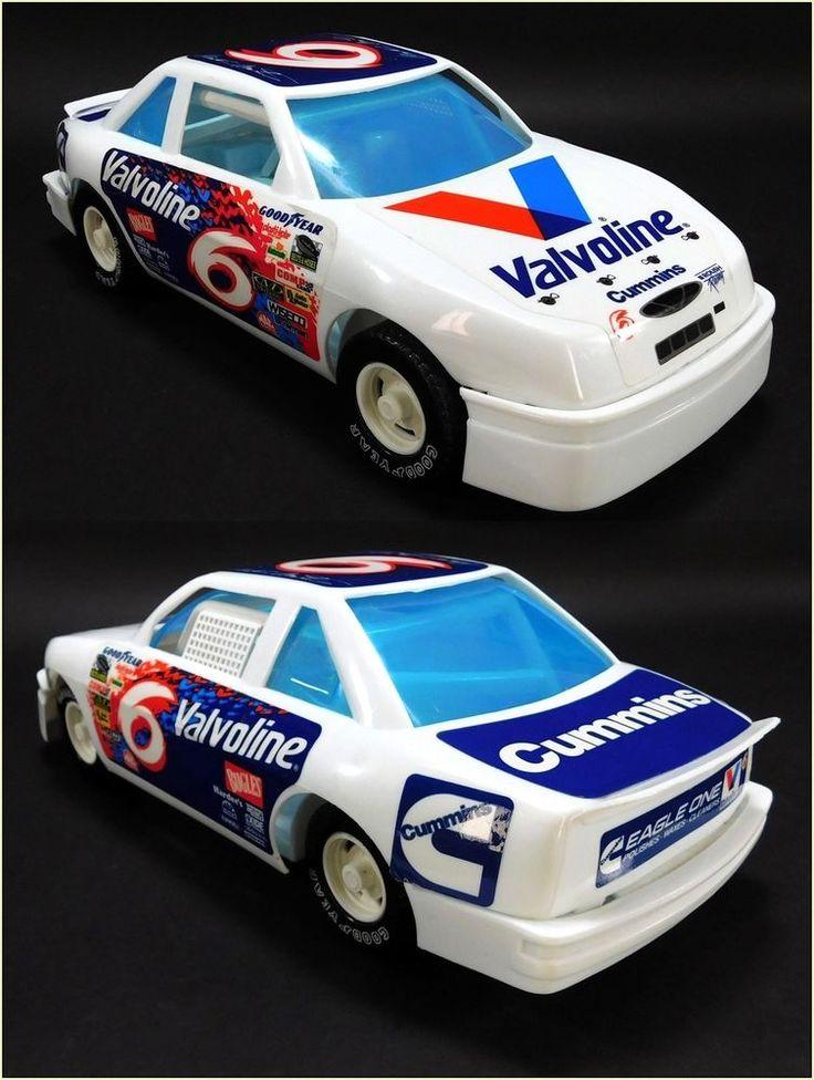 Mark Martin Valvoline #6, 1990's Vintage NASCAR Toy Car by American Plastic #AmericanPlasticToys #Ford