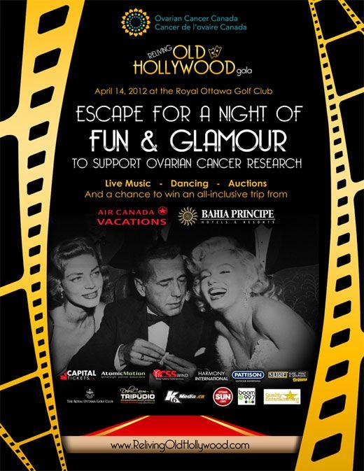 Old Hollywood Invitation Starlite Gala Pinterest