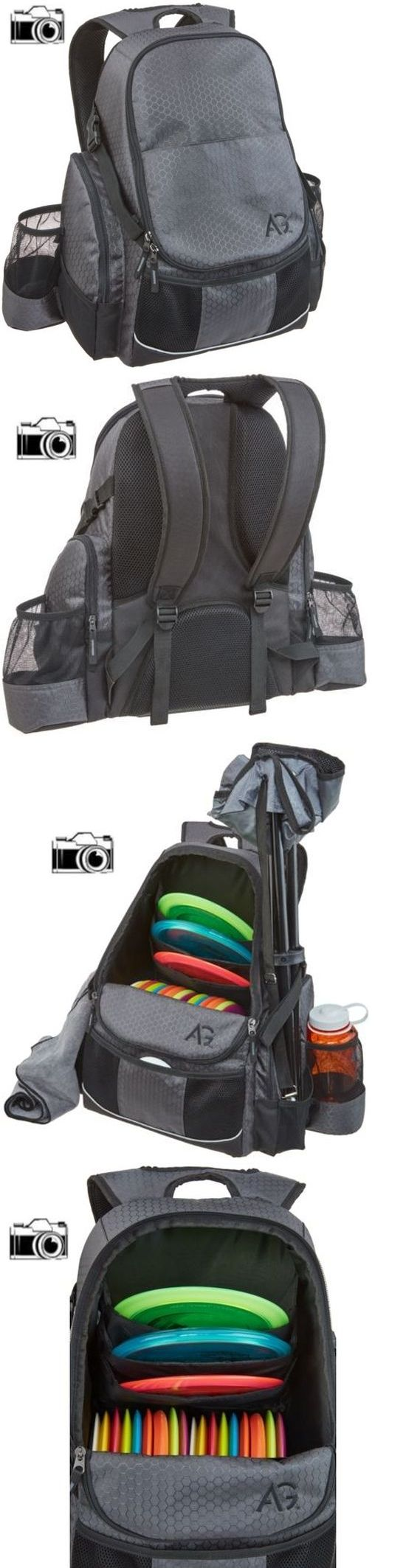 Disc Golf 20851: New Gray And Black Disc Golf Backpack Holds 21+ Discs Deluxe Frisbee Bag Ultimate -> BUY IT NOW ONLY: $40.85 on eBay!