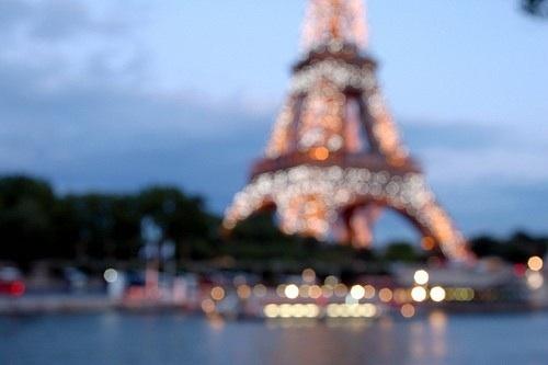 Paris in blur