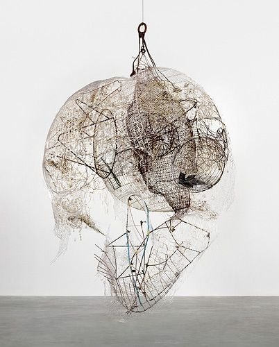 ELLIOTT HUNDLEY  Alas!  2011    Metal, plastic, pins, glass,   wire, string  133 1/2 x 106 x 92 inches  (339.1 x 269.2 x 233.7 cm)