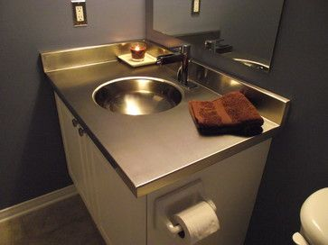 Pics Of Stainless steel vanity countertop by Ridalco bathroom countertops Stainless steal countertop in the