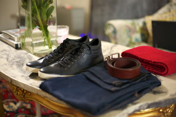 A stylish leather high-top shoe with a standout sole from Melbourne local harry