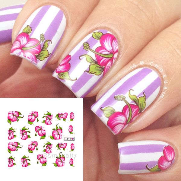 Buy Water Decals Transfer Floral Sticker at JacLauren.com