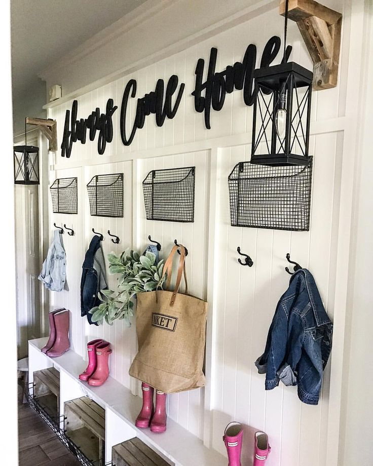 CottonStem.com Farmhouse Mudroom Hallway Entryway