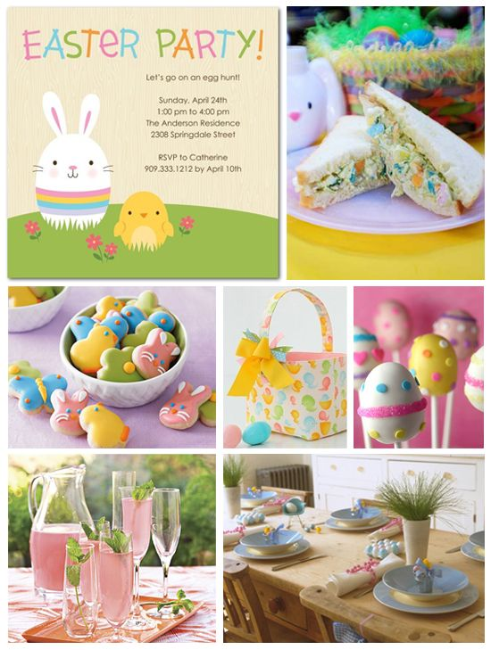 Easter party via Tiny Prints. This is Sophie's birthday party right here!