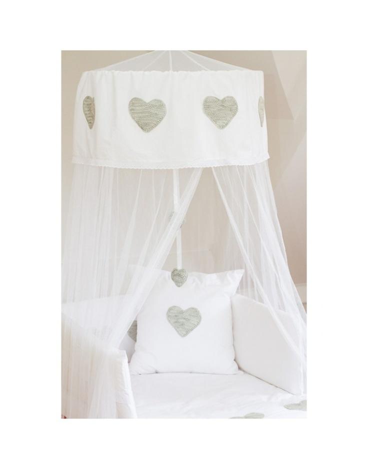 GEMSQUASH | Silver Hearts Cot Canopy | Nursery | kinderelo.co.za