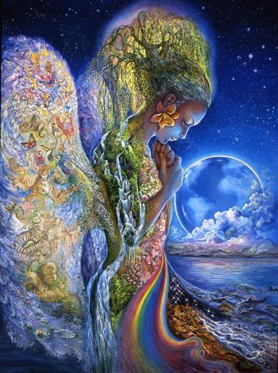 """Sadness of Gaia"" by Josephine Wall, Carolyn Emerick @ http://carolynemerick.hubpages.com/hub/Mother-Goddesses-from-World-Religions"