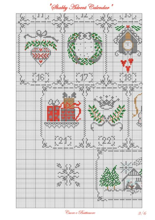 Gallery.ru / Shabby Advent Calendar - Shabby Advent Calendar - Marina-Melnik