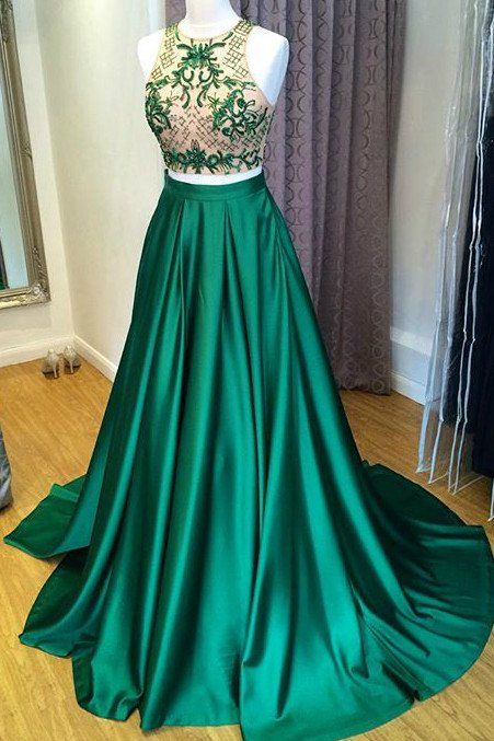 Two Piece Prom Dress, Green Long Prom Dress, 2017 Green Long Beads Prom Dress sold by dreamdressy. Shop more products from dreamdressy on Storenvy, the home of independent small businesses all over the world.