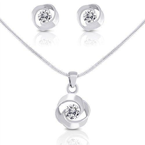 Amazon Com Smitco Llc Kids Nail Polish: Smitco LLC Rhodium Plated Necklace And Stud Earrings