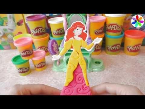 Принцесса Ариэль делаем из форм разные аксессуары из пластилина плейдо и...