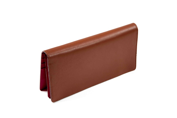 Birthday Lucky Wallet☆お誕生日でわかる風水開運財布 Leather (brown×fuchsia pink)