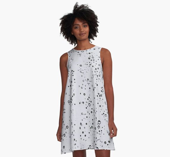 A-line Printed Dress, It's raining, oversized dress, oversize tunic, loose dress, casual dress, sporty look, unique pattern straight from artists, summer design.  AD0005 - ... ➡️ http://jto.li/msyH6