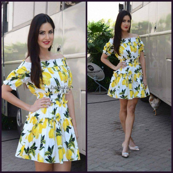 Here's Katrina Kaif's look for #Fitoor promotions .