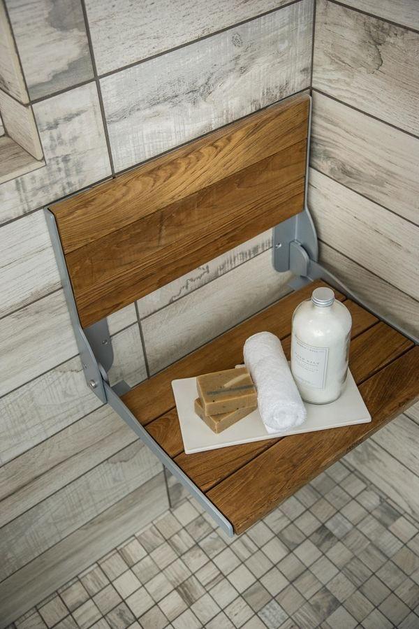 Bad-Accessoires aus Holz Dusche Bank Teak Dusche Sitz Ideen