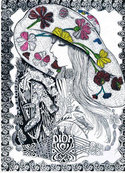 Dior Illustration by Chris Price