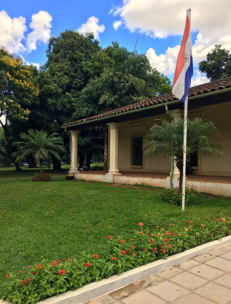 Casa Viana-Galván del jardín botánico de Asunción-Paraguay