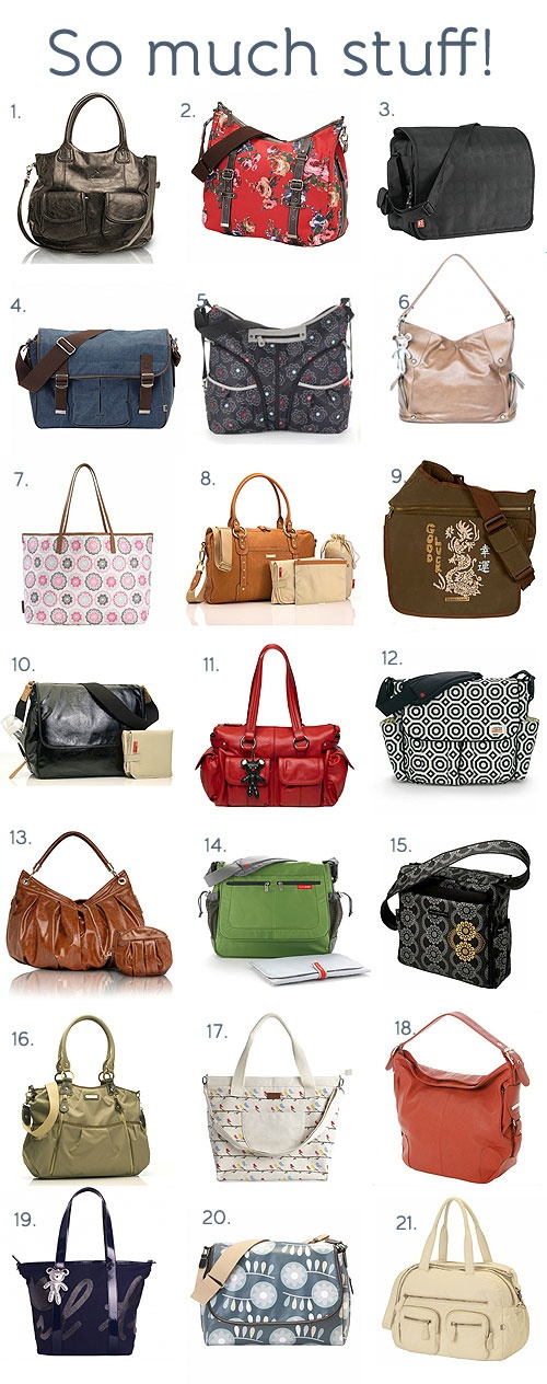 Stylish and practical nappy bags