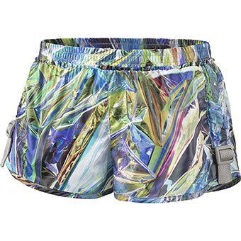 holographic print. adidas stella Run Printed Shorts