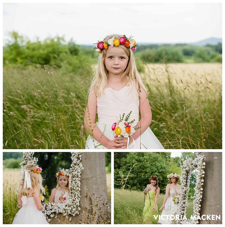 Flower girls. #weddings #flowergirls #flowercrowns