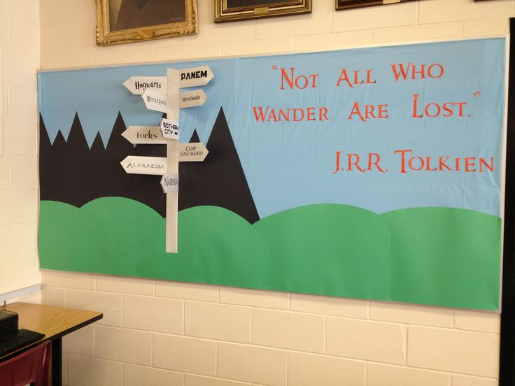 Not all who wander are lost bulletin board for September 2012.
