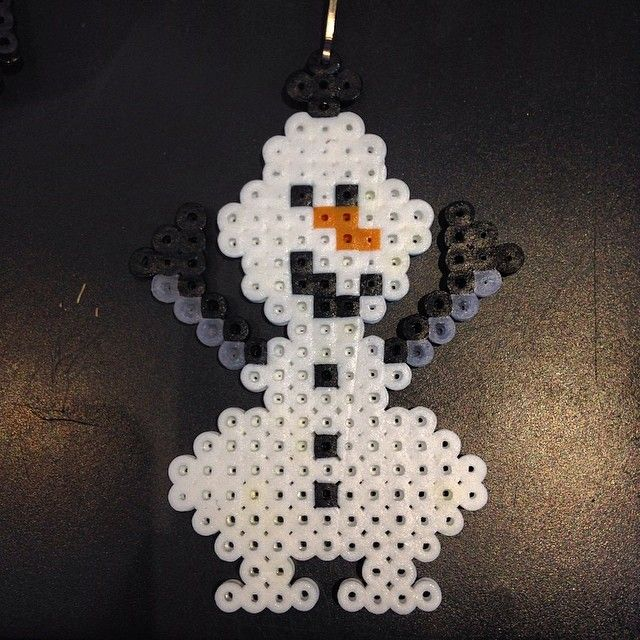 Olaf Frozen perler beads by raycoon