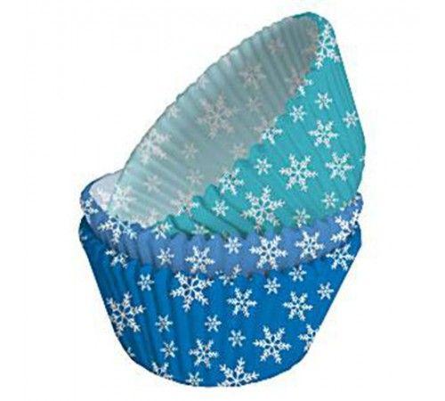 Moule-caissette cupcake flocon de neige x75