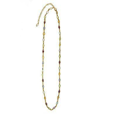 18k Yellow Adj Semi-Precious Multi-Gem Bracelet - 7.25 Inch - JewelryWeb JewelryWeb. $931.30