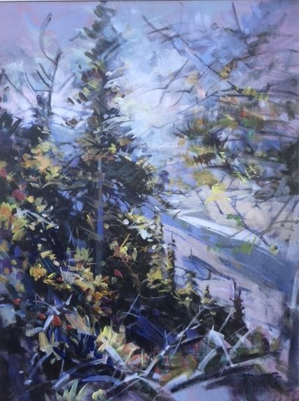 "'Toward Morrow Peak' 48"" x 36"" Acrylic on Canvas by Artist Jim Vest"
