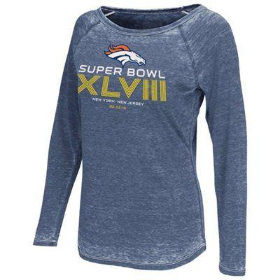 Touch by Alyssa Milano Denver Broncos Super Bowl XLVIII Ladies Boatneck Raglan Long Sleeve T-Shirt