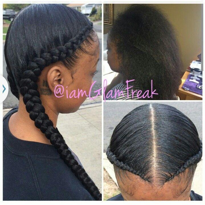 Two braids silkpress