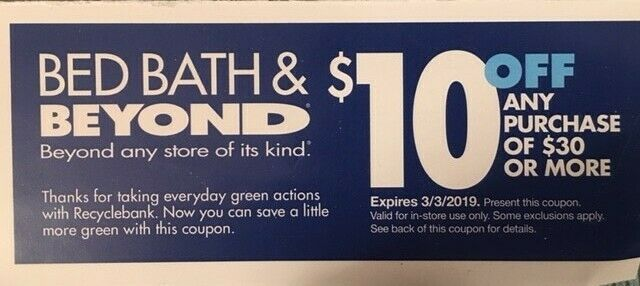 24 13 X Bed Bath And Beyond 10 Off 30 Coupons 9x 20 1 20 Off