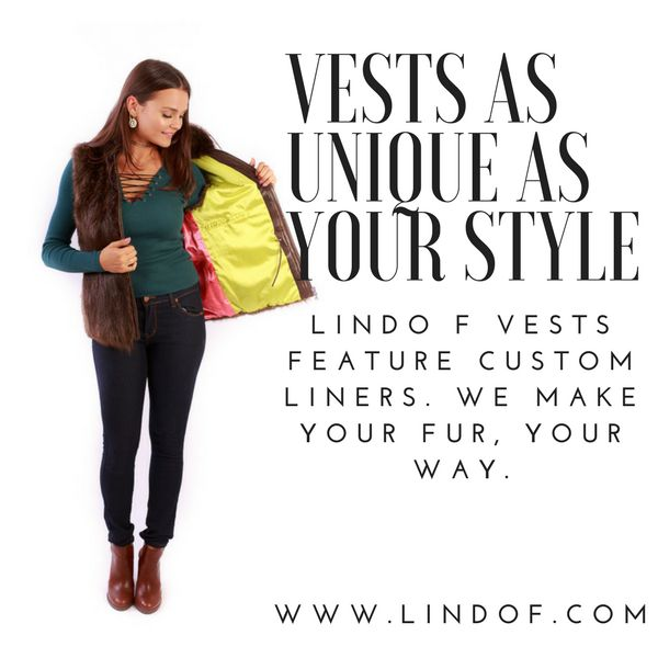 our #furvests all feature custom liners so you can enjoy your fur, your way! #OOTD #furfashion #furvest #fashion #lindof  www.lindof.com