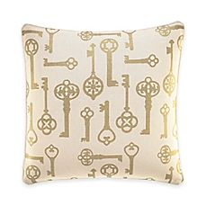 Inspired by Kravet: Lions Gate Square Throw Pillow in Gold. The theme provided further inspiration through the key motif in the pillows.