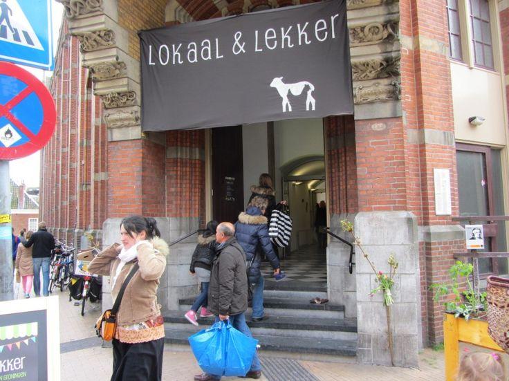 Lokaal & lekker markt - Groningen   Doek met logo.