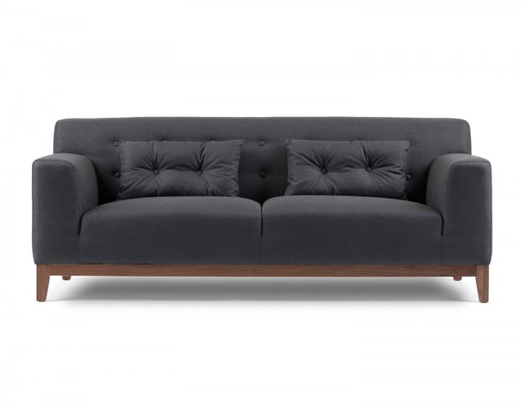 Sofas don't get more solid than Weber. With an easy-to- clean 100% polyester cover and sturdy legs surfaced in  walnut veneer, this handsome three-seater is built to  withstand today's busy lifestyle. Relaxed cushions will  hug your lower back — ensuring comfort for movie  marathons — while the tailored upholstery keeps Weber  looking polished.