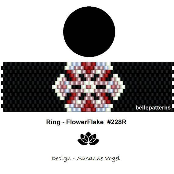 peyote ring pattern,PDF-Download, #228R, beading pattern, beading tutorials, ring pattern