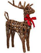 Christmas Shop Rattan Deer Small $29.96