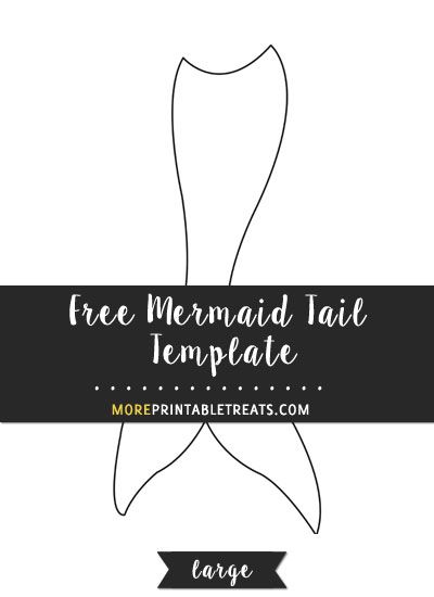 Free Mermaid Tail Template - Large