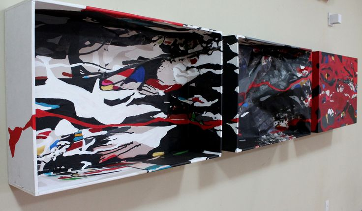 METAMORPHOSIS – PNEUMA (tríptico) Técnica mista, 60x2,70x21 cm, 2014