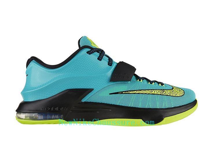 Nike KD 7 Uprising - Chaussure De Basket-ball pour Homme Pas Cher Bleu Vert