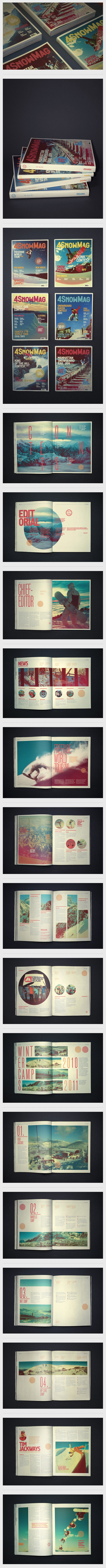4SnowMag on Behance #layout #design #editorial