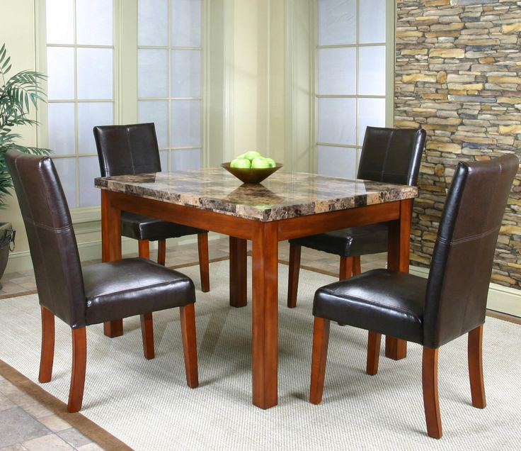 Mayfair Faux Marble 5 Piece Dining Set By Cramco In Columbus Ohio And Best Prices Guaranteed The Furniture Is Made Of A