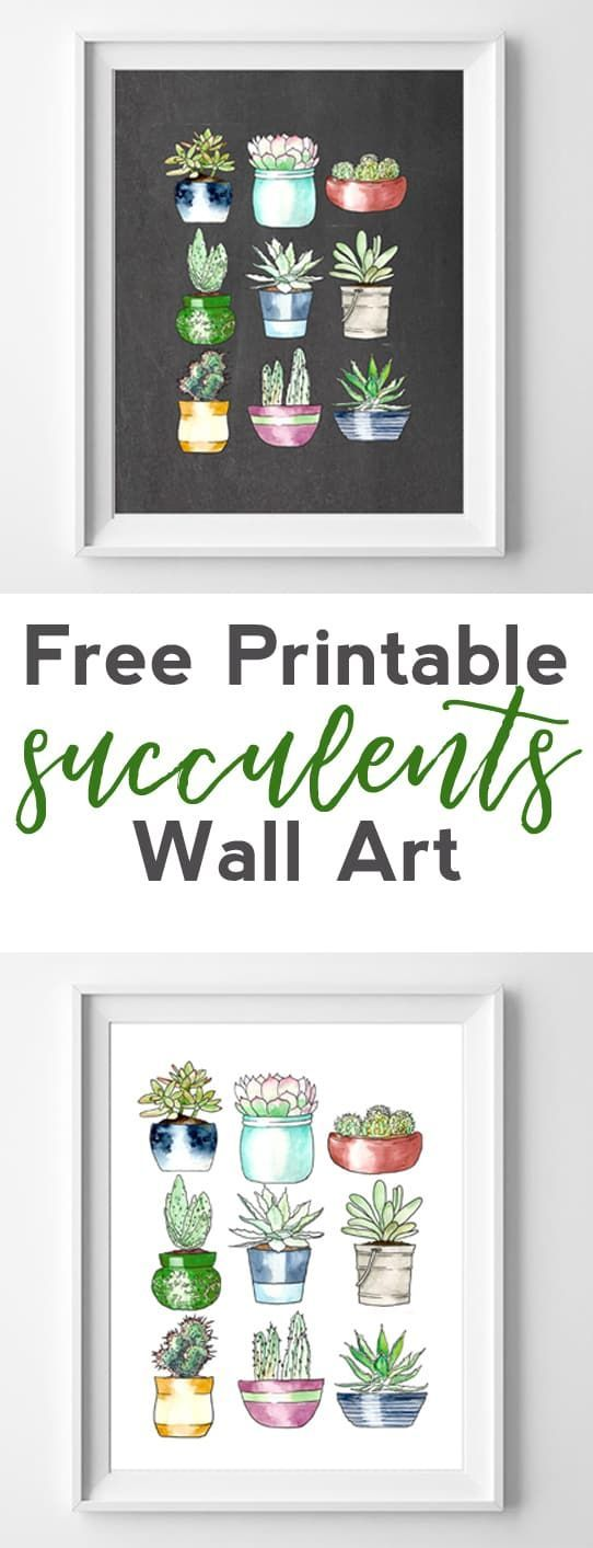 succulents free printables | printable wall art - Ciao, sono Anna . Visita il mio sito / Hi, I'm Anna . Check out my website / annaifl.com
