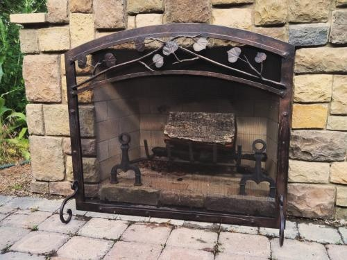 ironhaus firescreen on an outdoor fireplace - 17 Best Images About Fireplace Ironwork On Pinterest Durango